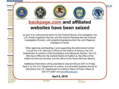 Backpage Is Closed Down