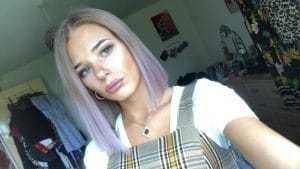 Ci-Ci With Purple Hair