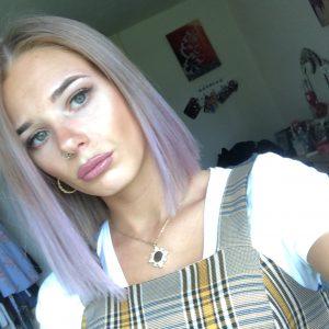 Ci-Ci With Purple Hair