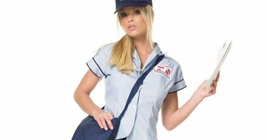 sexy postwoman